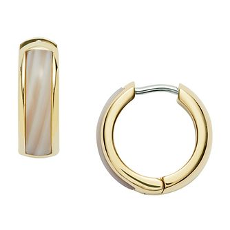 Fossil Classic Ladies' Yellow Gold Plated Earrings - Product number 9399453
