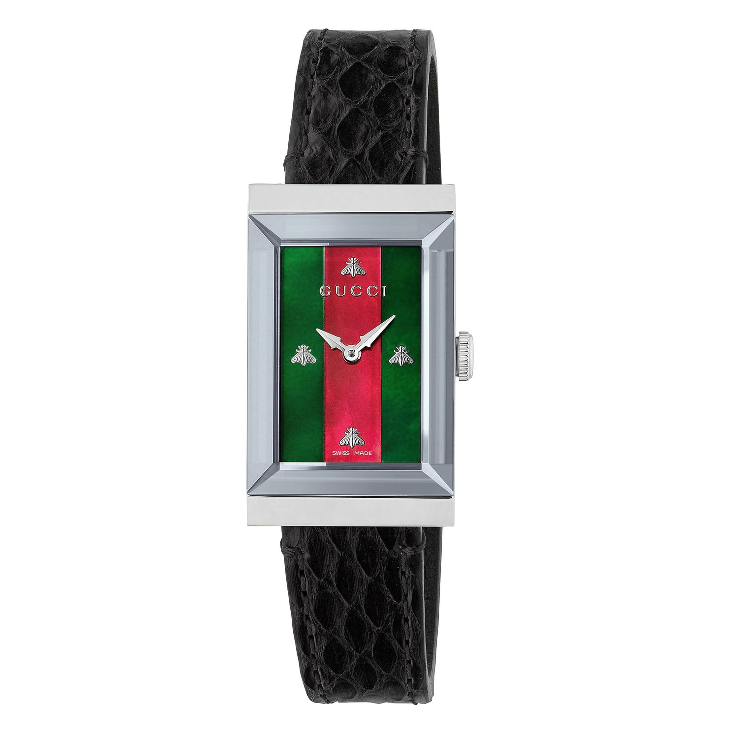 Gucci G-Frame Black Leather Strap Watch - Product number 9399968