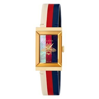 Gucci G-Frame Multi-Coloured Leather Strap Watch - Product number 9400036