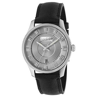 Gucci G-Timeless Black Leather Strap Watch - Product number 9400052
