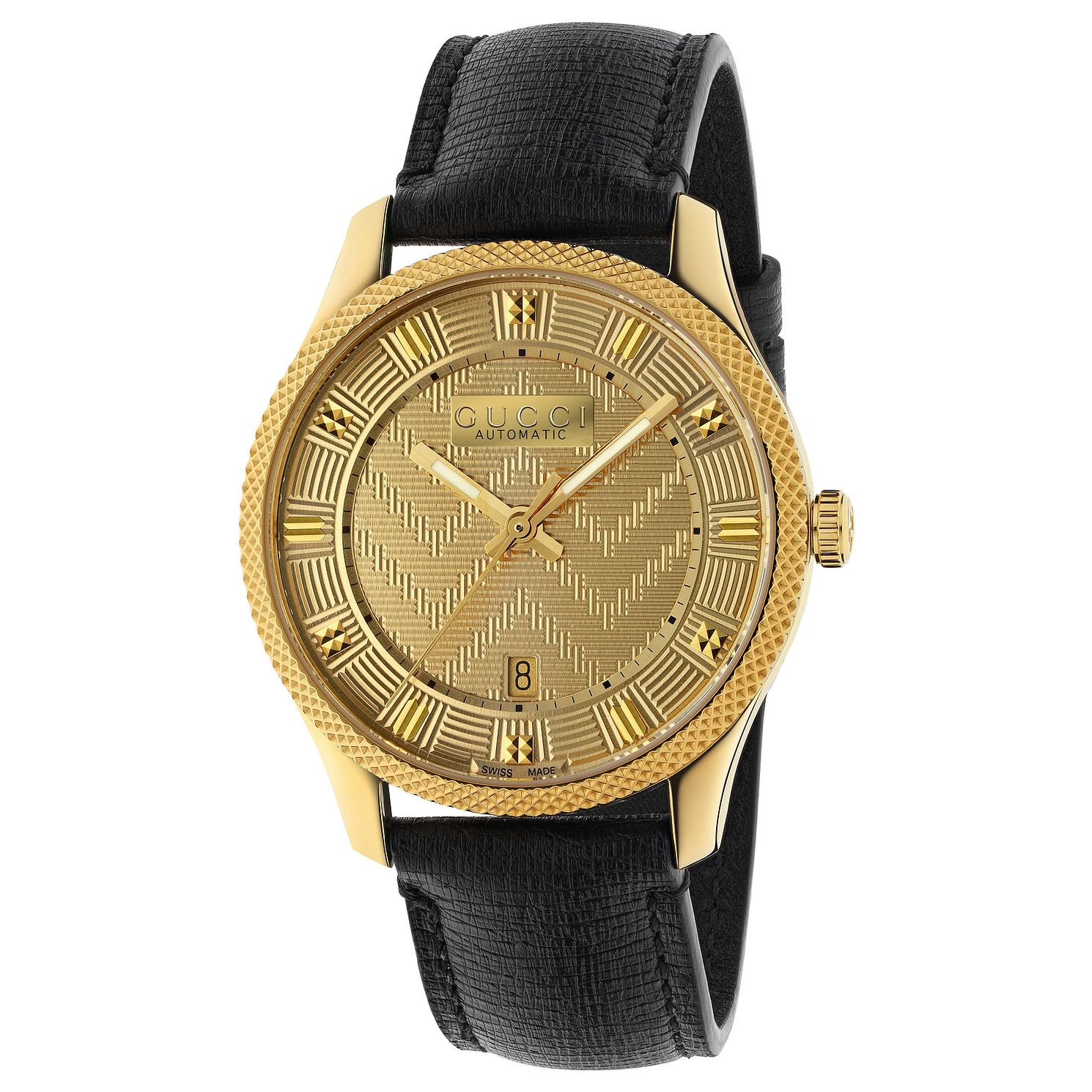 Gucci G-Timeless Black Leather Strap Watch - Product number 9400060