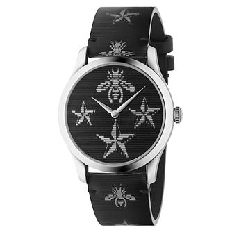 Gucci G-Timeless Contemporary Hologram Black Rubber Watch - Product number 9400095