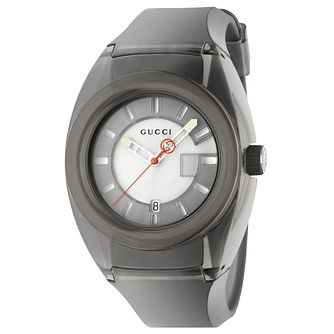 Gucci Sync Men's Grey Rubber Strap Watch - Product number 9400117