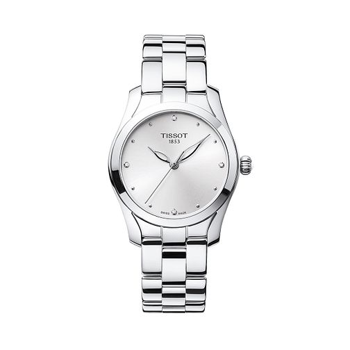 Tissot Stainless Steel T-wave Silver Dial Bracelet Watch - Product number 9400176