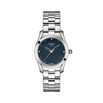 Tissot Stainless Steel T-wave Blue Dial Bracelet Watch - Product number 9400184