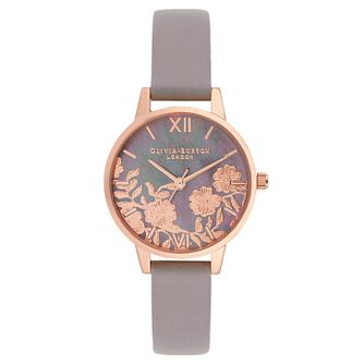 Olivia Burton Lace Ladies' Lilac Leather Strap Watch - Product number 9405607