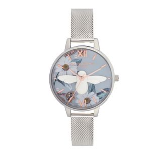 Olivia Burton Bejewelled Floral Ladies' Mesh Bracelet Watch - Product number 9405623