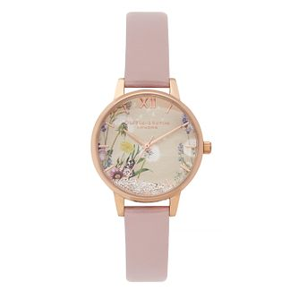 Olivia Burton Wishing Ladies' Pink Leather Strap Watch - Product number 9405690