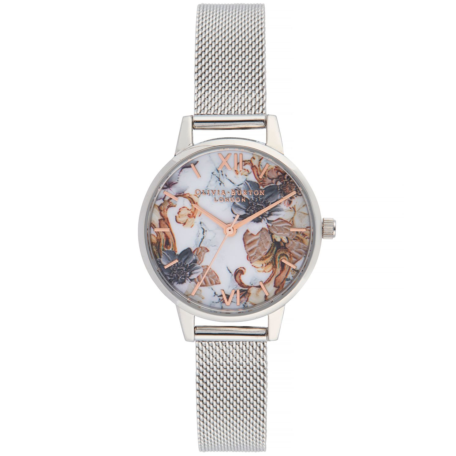 Olivia Burton Marble Florals Ladies' Mesh Bracelet Watch - Product number 9405925