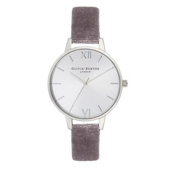 Olivia Burton Ladies' Sunray Dial Lilac Velvet Strap Watch - Product number 9406034