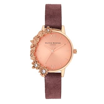 Olivia Burton Case Cuff Ladies' Burgundy Leather Strap Watch - Product number 9406956