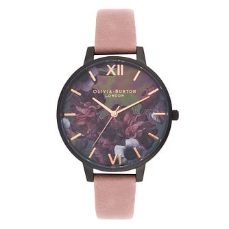 Olivia Burton After Dark Ladies  Pink Suede Strap Watch - Product number  9407065 0a0d207fee