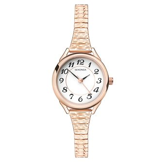 Sekonda Ladies' Rose Gold Plated Steel Bracelet Watch - Product number 9407227