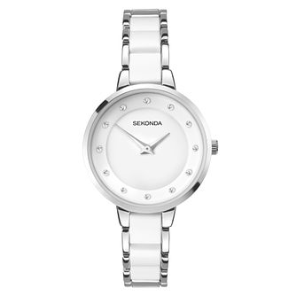Sekonda Ladies' Silver & White Bracelet Watch - Product number 9407332