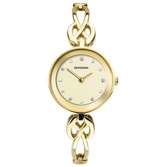 Sekonda Ladies' Crystal Gold Tone Bracelet Watch - Product number 9407367