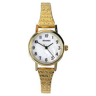 Sekonda Ladies' Gold Plated Stainless Steel Bracelet Watch - Product number 9407472