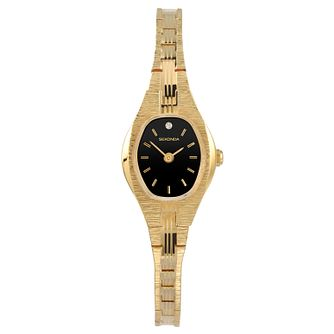 Sekonda Ladies' Black Dial Gold Tone Bracelet Watch - Product number 9407480