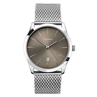 Sekonda Men's Stainless Steel Mesh Bracelet Watch - Product number 9407529