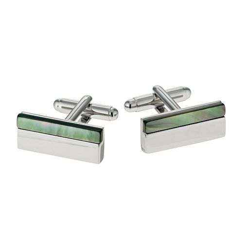 Simon Carter grey mother of pearl stripe cufflinks - Product number 9407855