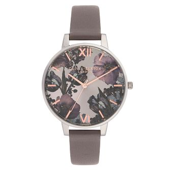Olivia Burton Twilight Ladies' Grey Leather Strap Watch - Product number 9407979