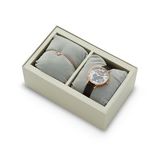 Olivia Burton Bejewelled Leather Strap Watch & Bracelet Set - Product number 9408088