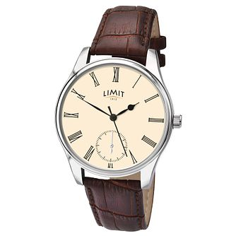 Limit Men's Cream Dial Brown Strap Watch - Product number 9408347