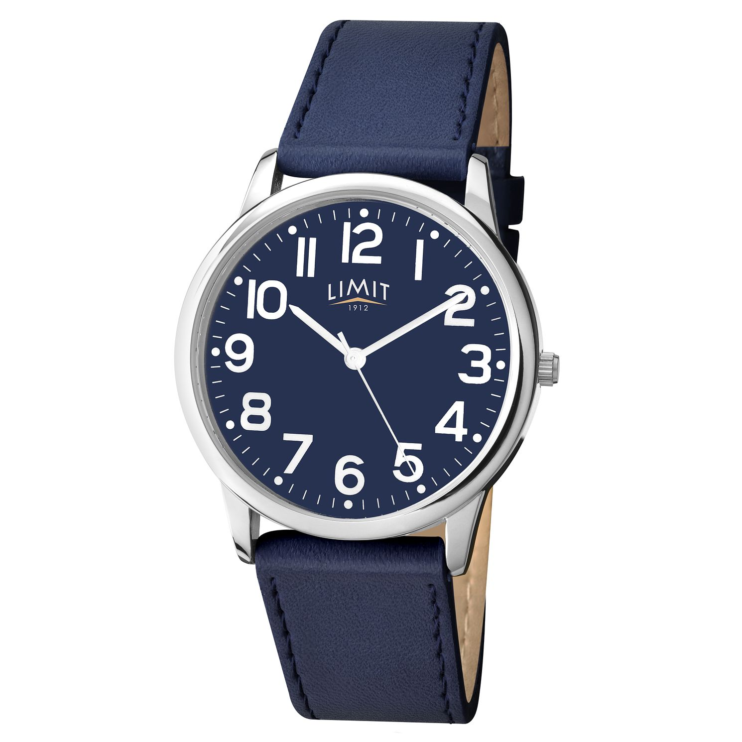 Limit Men's Silver Tone & Navy Blue Strap Watch - Product number 9408355