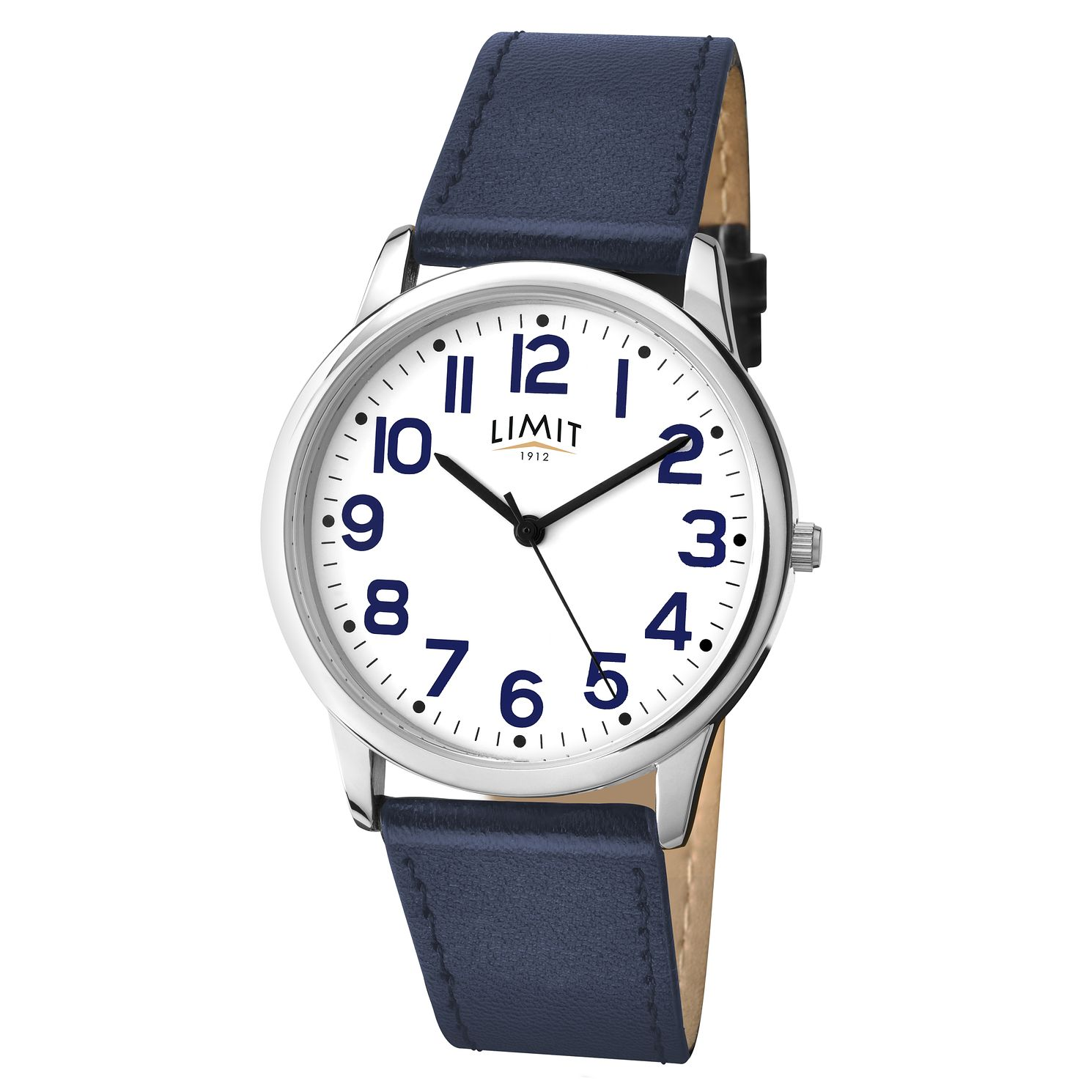 Men's Limit Blue Leather Strap Watch - Product number 9408398