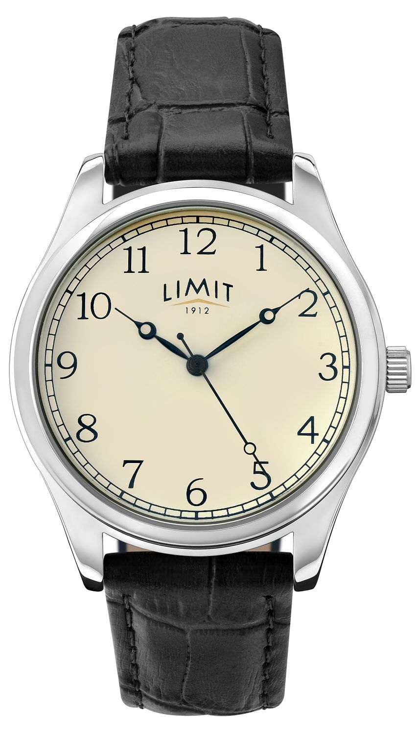Limit Men's Black Leather Strap Watch - Product number 9408401