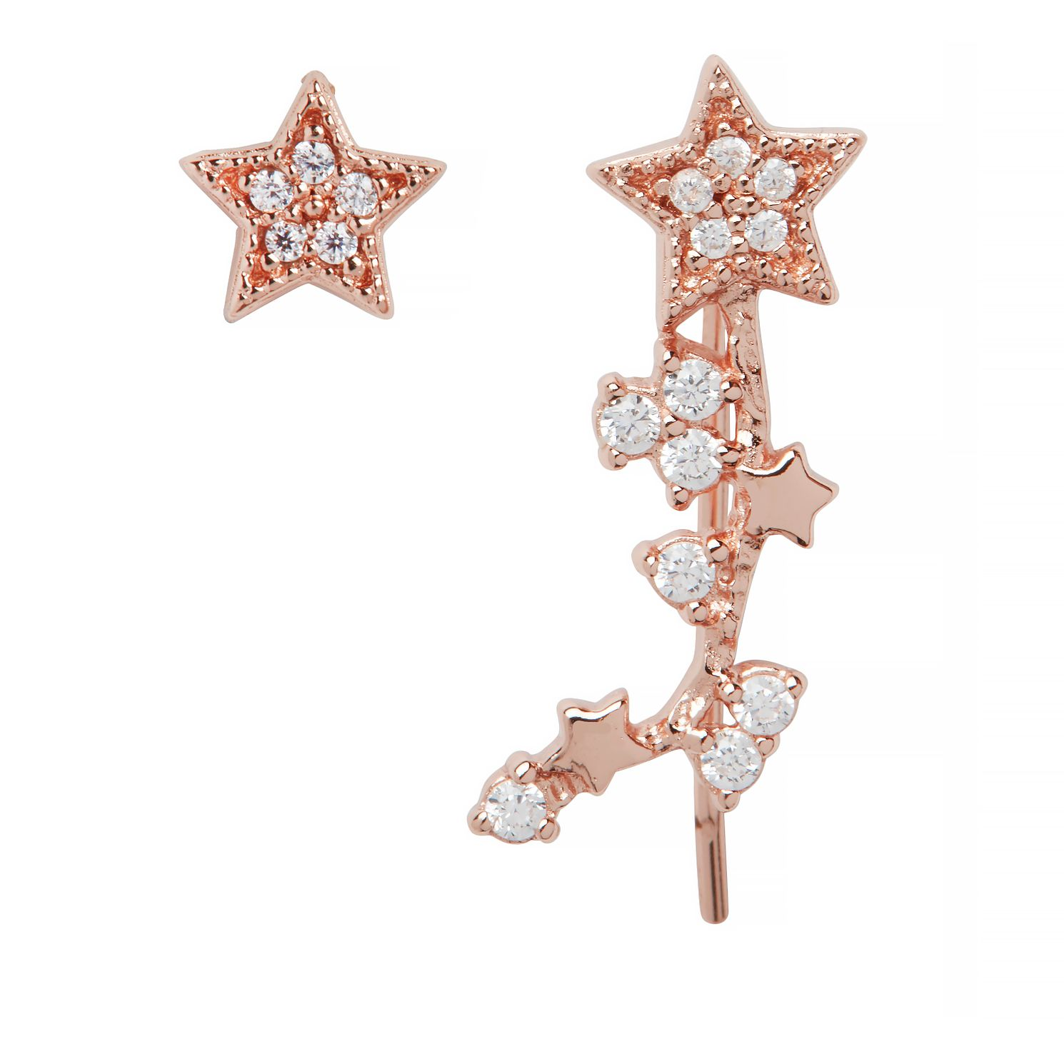 Olivia Burton Rose Gold Tone Celestial Star Earrings - Product number 9408592