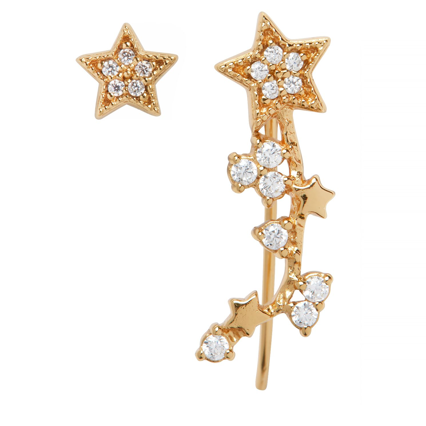 Olivia Burton Yellow Gold Tone Celestial Star Earrings - Product number 9408614