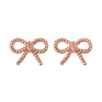 Olivia Burton Rose Gold Tone Vintage Bow Stud Earrings - Product number 9408622