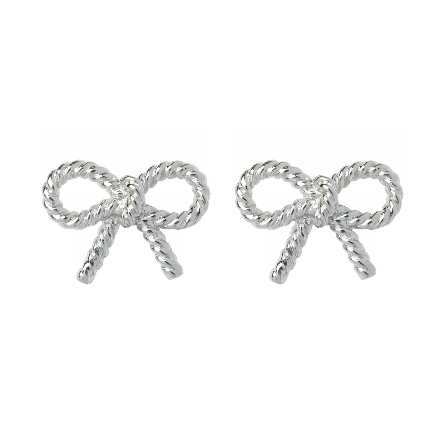 Olivia Burton Silver Tone Vintage Bow Stud Earrings - Product number 9408630