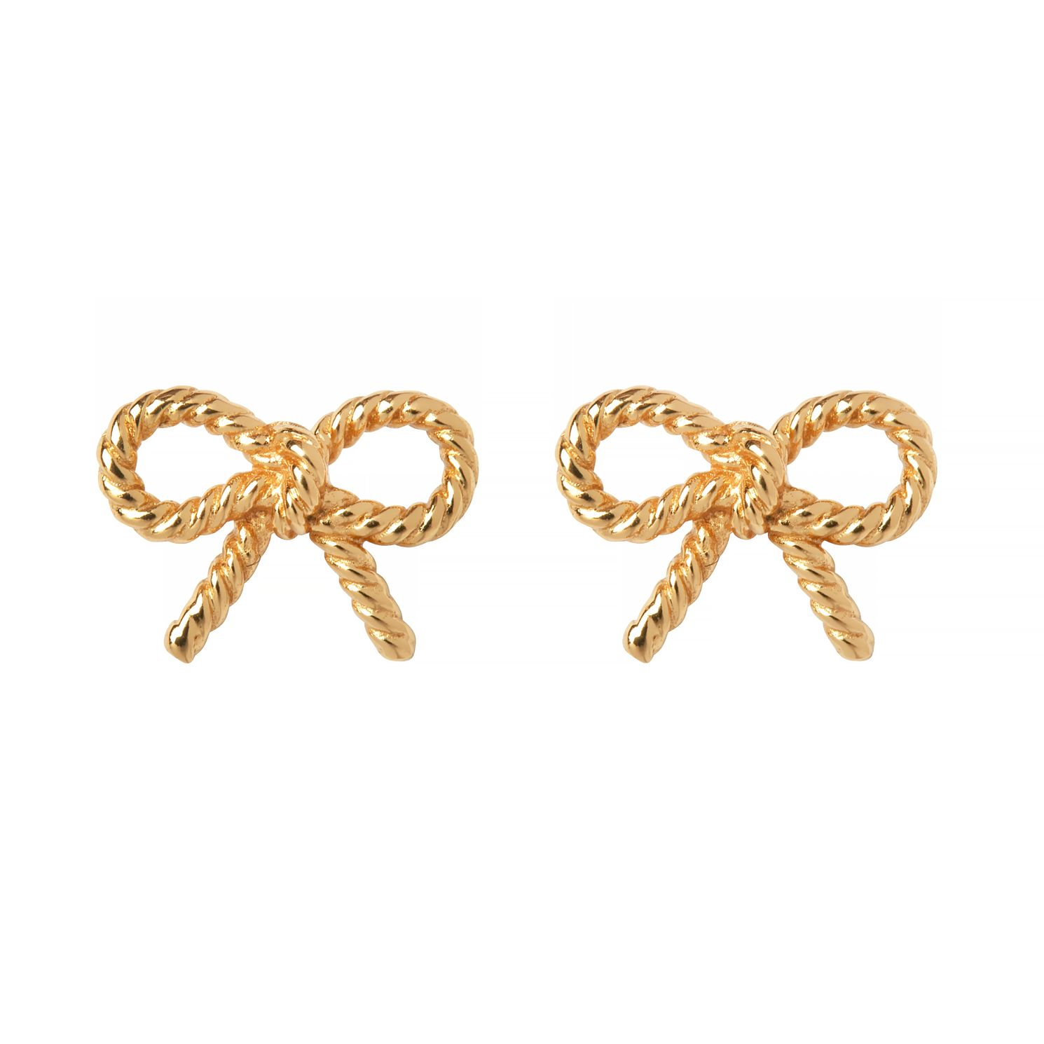 Olivia Burton Yellow Tone Vintage Bow Stud Earrings - Product number 9408649