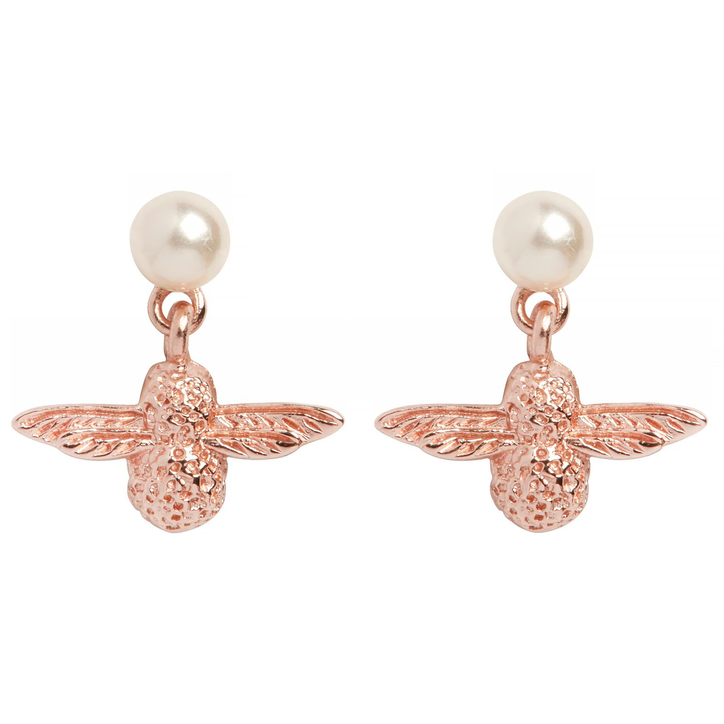 Olivia Burton Rose Gold Tone Pearl Bee Earrings - Product number 9408657