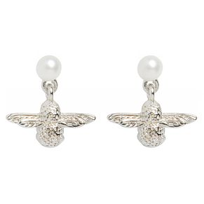 Olivia Burton Silver Tone Pearl Bee Earrings - Product number 9408665