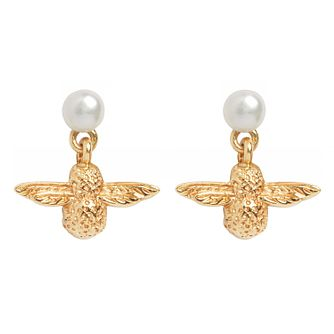 Olivia Burton Yellow Gold Tone Pearl Bee Earrings - Product number 9408673
