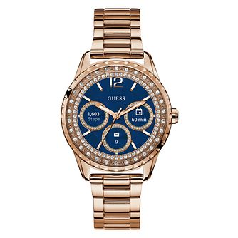Guess Connect Touch Ladies' Rose Tone Bracelet Smartwatch - Product number 9409688