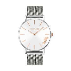 Coach Perry Ladies' Silver Mesh Bracelet Watch - Product number 9410120