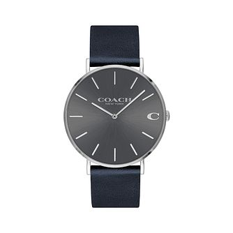 Coach Charles Men's Grey Navy Strap Watch - Product number 9410171