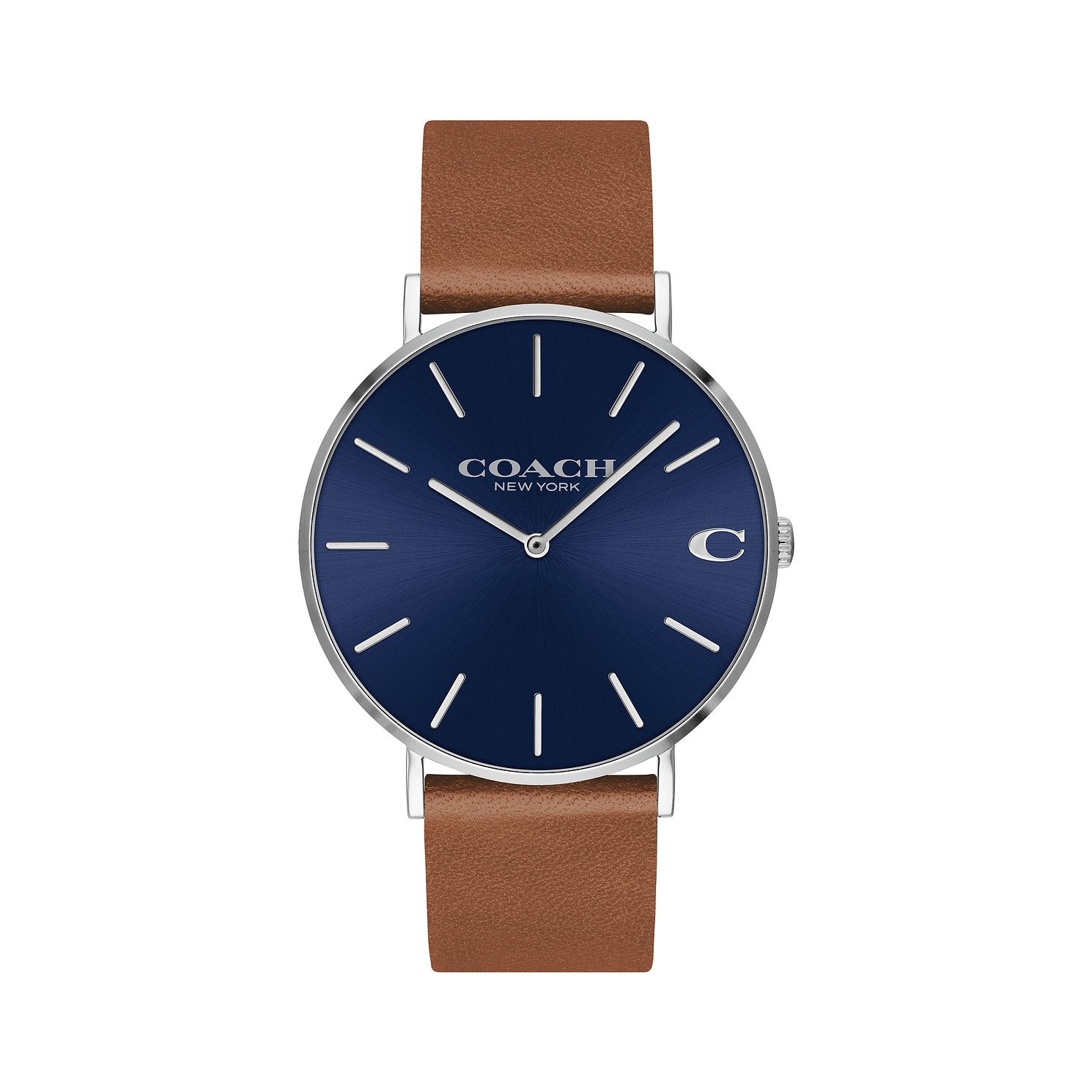 Coach Charles Men'S Blue Brown Strap Watch - Product number 9410198