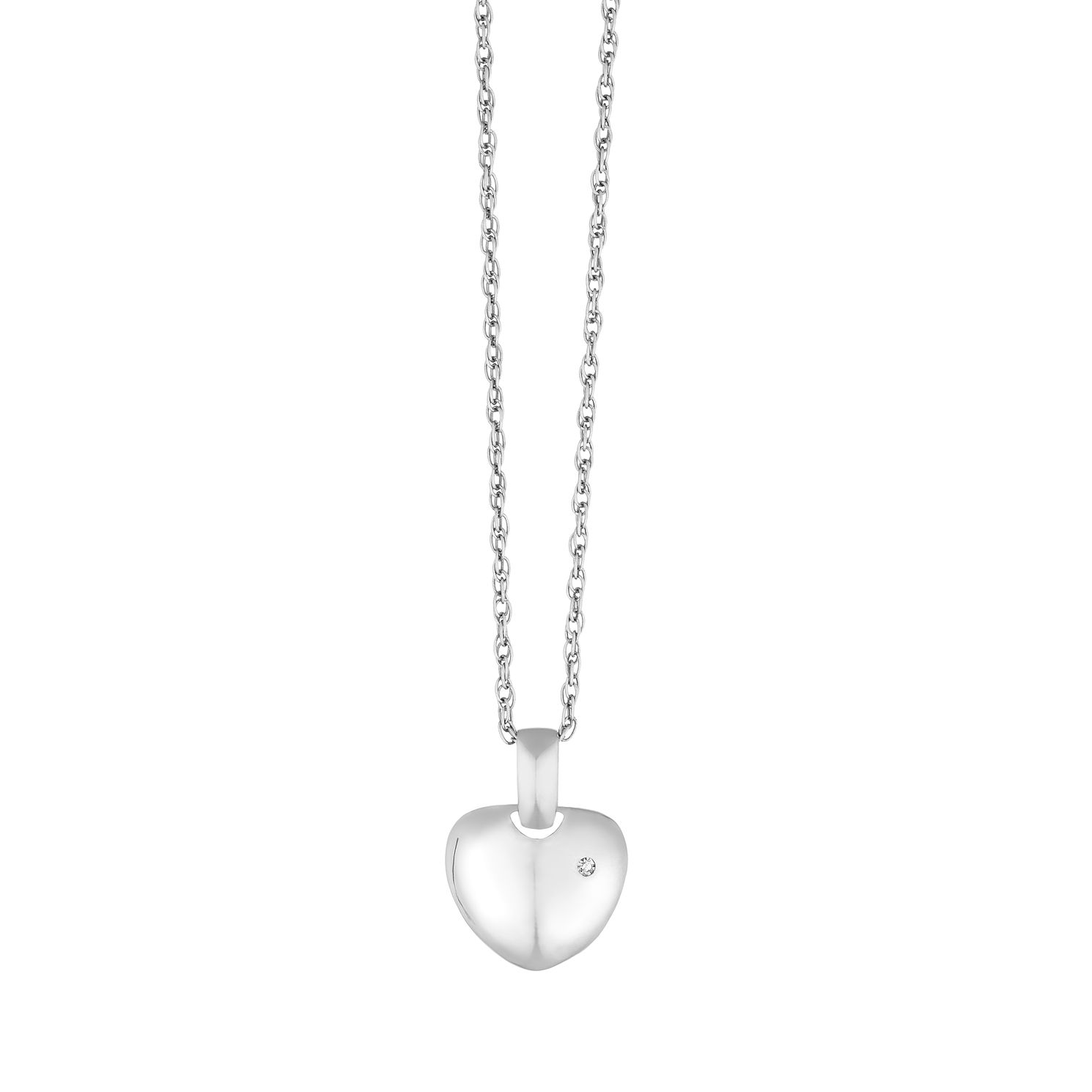 Silver Diamond Heart Pendant - Product number 9410325