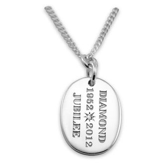 Silver Jubilee diamond tag pendant - Product number 9411178
