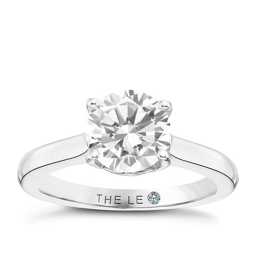 Leo Diamond Platinum 1.50ct ISI2 Solitaire Ring - Product number 9415726