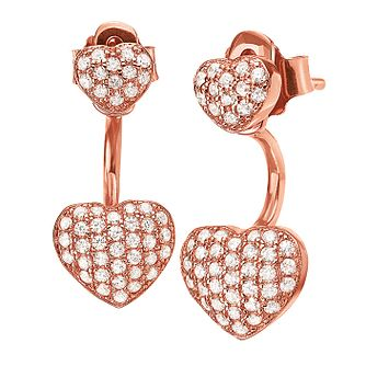 Folli Follie Essentials Ladies' Rose Gold Plated Earrings - Product number 9415912