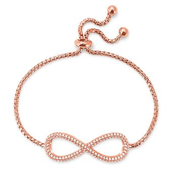 Folli Follie Infinity Ladies' Rose Gold Plated Bracelet - Product number 9416234