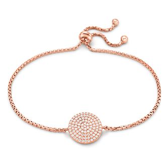 Folli Follie Ladies' Rose Gold Plated Adjustable Bracelet - Product number 9416560