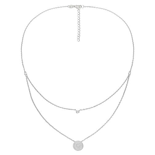 Folli Follie Fashionably Silver Ladies' Circle Necklace - Product number 9416609