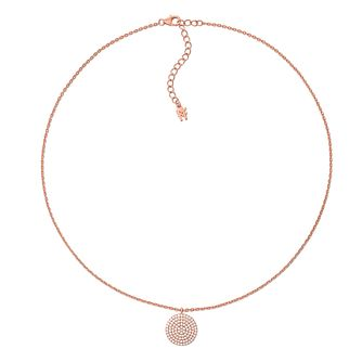Folli Follie Ladies' Rose Gold Plated Cubic Zirconia Pendant - Product number 9416722