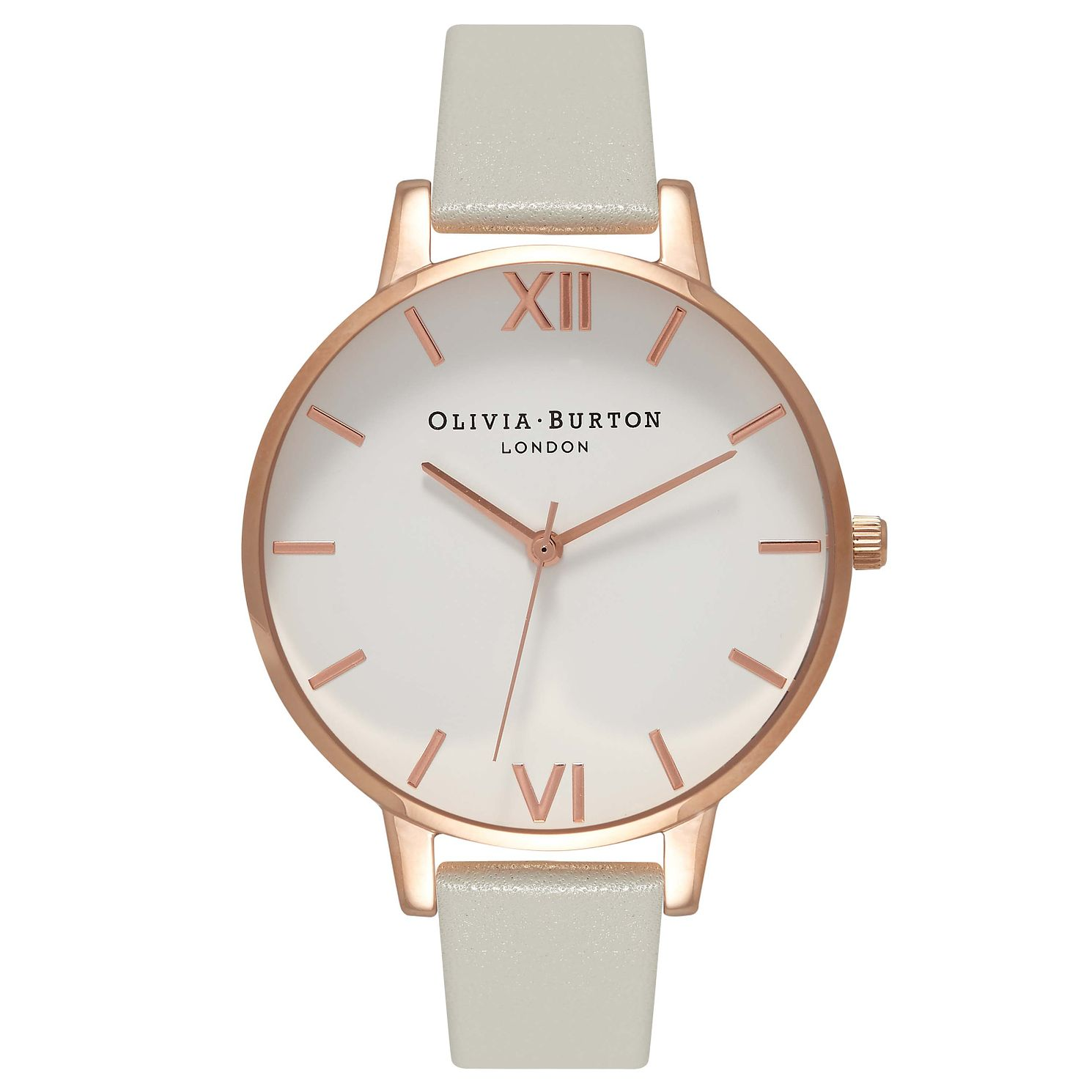 Olivia Burton Big Dial Rose Gold Metal Plated Grey Watch - Product number 9417931